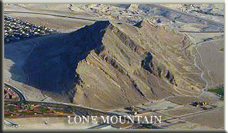 Lone Mountain from above